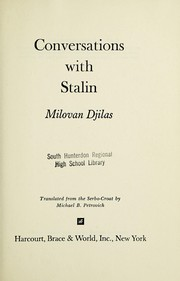 Cover of: Conversations with Stalin
