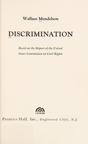 Cover of: Discrimination
