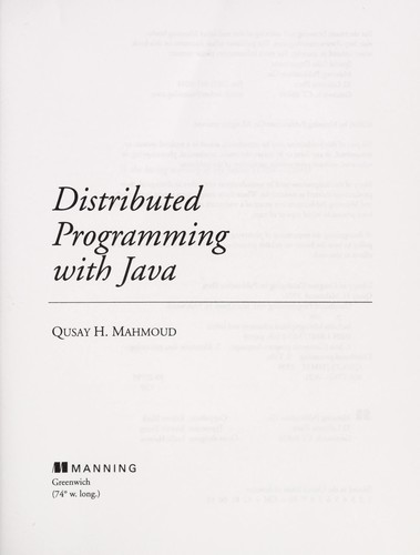Distributed programming with Java by Qusay H. Mahmoud