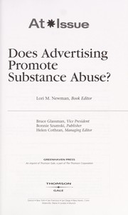 Does advertising promote substance abuse?