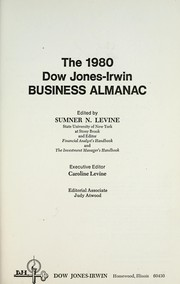 Cover of: The 1980 Dow Jones-Irwin, Summer Levine | Dow Jones-Irwin