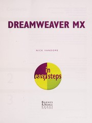 Cover of: Dreamwevaer MX for Windows and Mac |