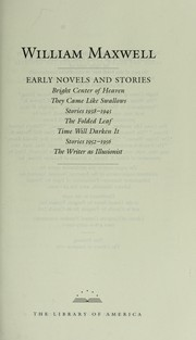 Cover of: Early novels and stories