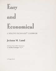 Cover of: EASY AND ECONOMICAL |