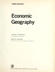 Cover of: Economic geography | Truman A. Hartshorn