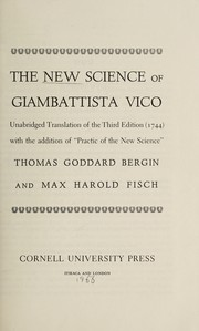Cover of: The new science of Giambattista Vico | Giambattista Vico