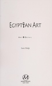 Cover of: Egyptian art | Susie Hodge