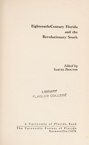 Cover of: Eighteenth-century Florida and the Revolutionary South