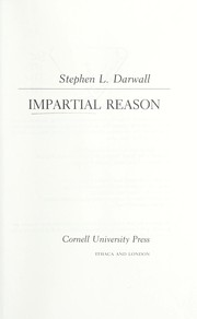 Cover of: Impartial reason | Stephen L. Darwall