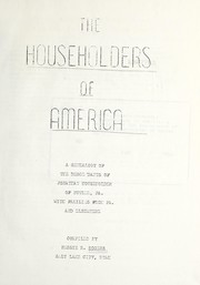 Cover of: Householders of America | Rogers, Bessie Ritchie