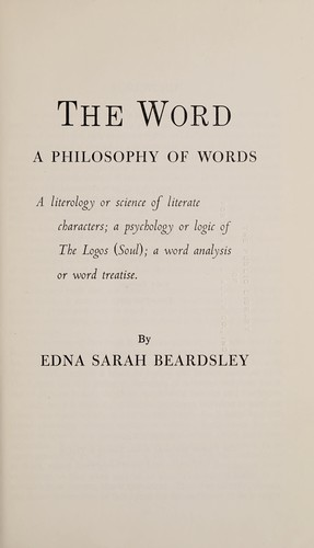 The word by Edna Sarah Beardsley