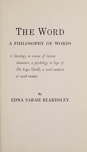 Cover of: The word | Edna Sarah Beardsley