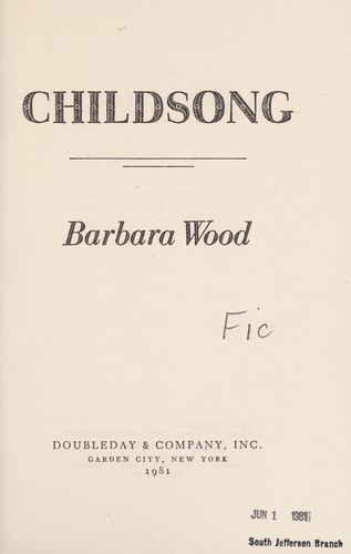 Childsong by Barbara Wood
