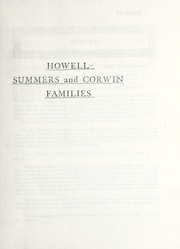 Cover of: Howell, Summers and Corwin families | American Historical Company