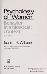 Cover of: Psychology of Women