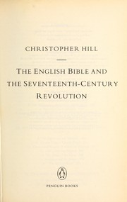 Cover of: The English Bible and the seventeenth-century revolution