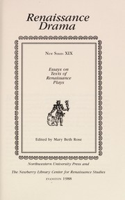 Cover of: Essays on texts of Renaissance plays