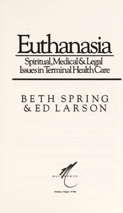 Cover of: Euthanasia | Beth Spring