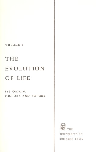 Evolution after Darwin; the University of Chicago centennial by Tax, Sol, 1907- ed