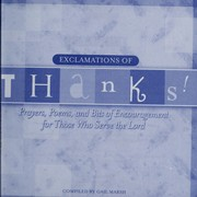 Cover of: Exclamations of thanks!