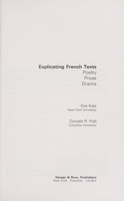 Cover of: Explicating French texts | Eve Katz