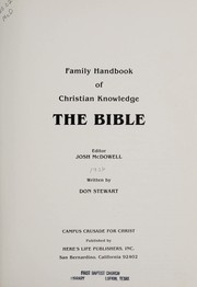 Cover of: Family Handbook of Christian Knowledge of the Bible