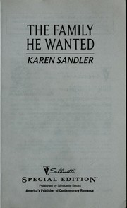 Cover of: The family he wanted