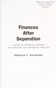 Cover of: Finances after separation | Douglas P. Welbanks