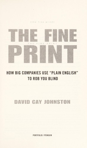 The fine print by Johnston, David