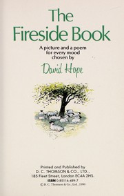 Cover of: The fireside book | David Hope