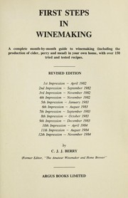 Cover of: First steps in winemaking
