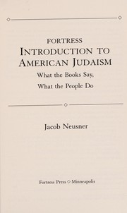 Cover of: Fortress introduction to American Judaism | Jacob Neusner