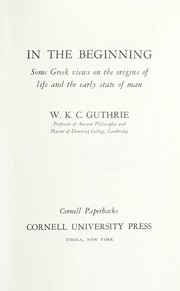 Cover of: In the beginning | W. K. C. Guthrie