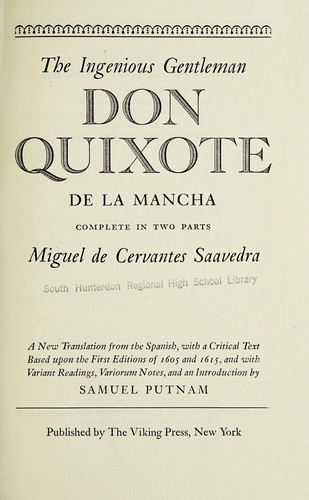 The ingenious gentleman Don Quixote de La Mancha by Miguel de Cervantes Saavedra