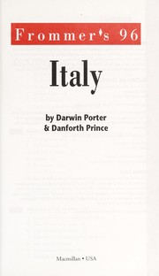Cover of: Frommer's Italy