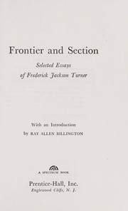 Cover of: Frontier and section: selected essays.