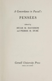 Cover of: A Concordance to Pascal's Pensées