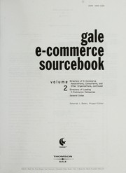 Cover of: Gale e-commerce sourcebook | Deborah J. Baker, project editor.