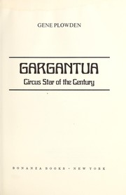 Cover of: Gargantua | Gene Plowden