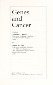 Cover of: Genes and cancer |
