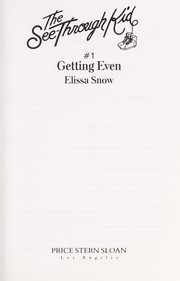 Cover of: Jack Rabbit:getting E (The See Through Kid, No 1) | Elissa Snow