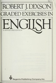 Cover of: Graded exercises in English