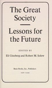 Cover of: The great society