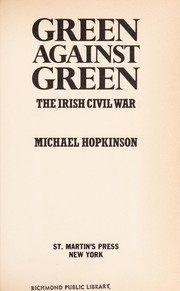 Cover of: Green against green | Michael Hopkinson