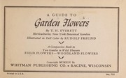 Cover of: A guide to garden flowers