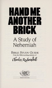 Cover of: Hand me another brick | Charles R. Swindoll