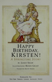 Cover of: Happy Birthday, Kristen! (A Springtime Story - Book 4) (The American Girl Collection) |