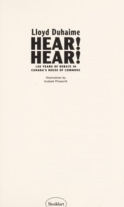 Cover of: Hear! hear! | Lloyd Duhaime