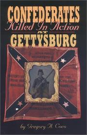 Cover of: Confederates killed in action at Gettysburg
