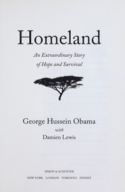 Cover of: Homeland | George Hussein Obama